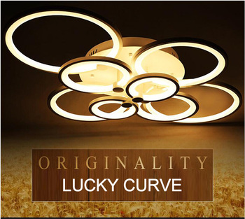 New Style Acrylic  Ceiling Lamp Creative  Lucky Curve LED Ceiling Lights  for Dinning Room  Living Room Bedroom Ceiling Lights