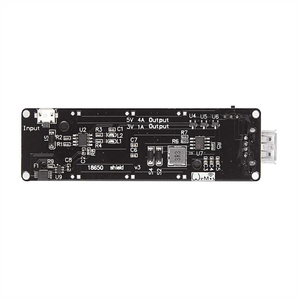 Micro USB pour Wemos ESP32 18650 batterie blindv3 ESP-32 LED pour Arduino Raspberry Pi