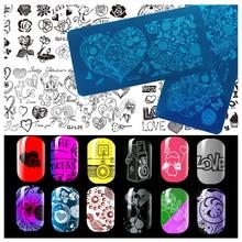 2016 DIY Image 12x6cm Valentine's Series Stamping Plates Fashion Nail Art Templates Stencils Salon Beauty Polish Tools for Xmas