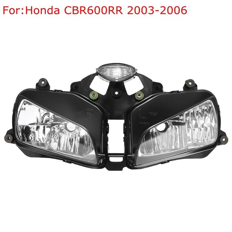 ФОТО 2X Front Headlight Head Lamp Lens Assembly For Honda CBR600RR 2003-2006/2007-2011 For Honda CBR 1000RR 2008-2011/1000RR 2004-07