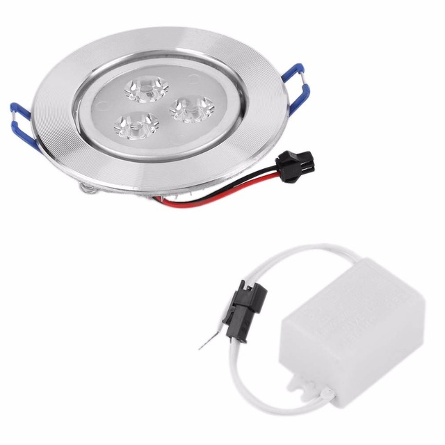 ICOCO 3W LED Optimized Design Recessed Ceiling Downlight Spot Lamp Bulb Light Driver
