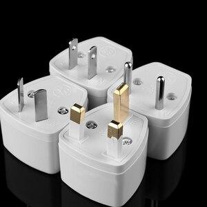 High Quality White Universal US EU AU Converter to UK HK 3 Pin AC Travel Power Plug Charger Adapter Connector UK Plug Convertor