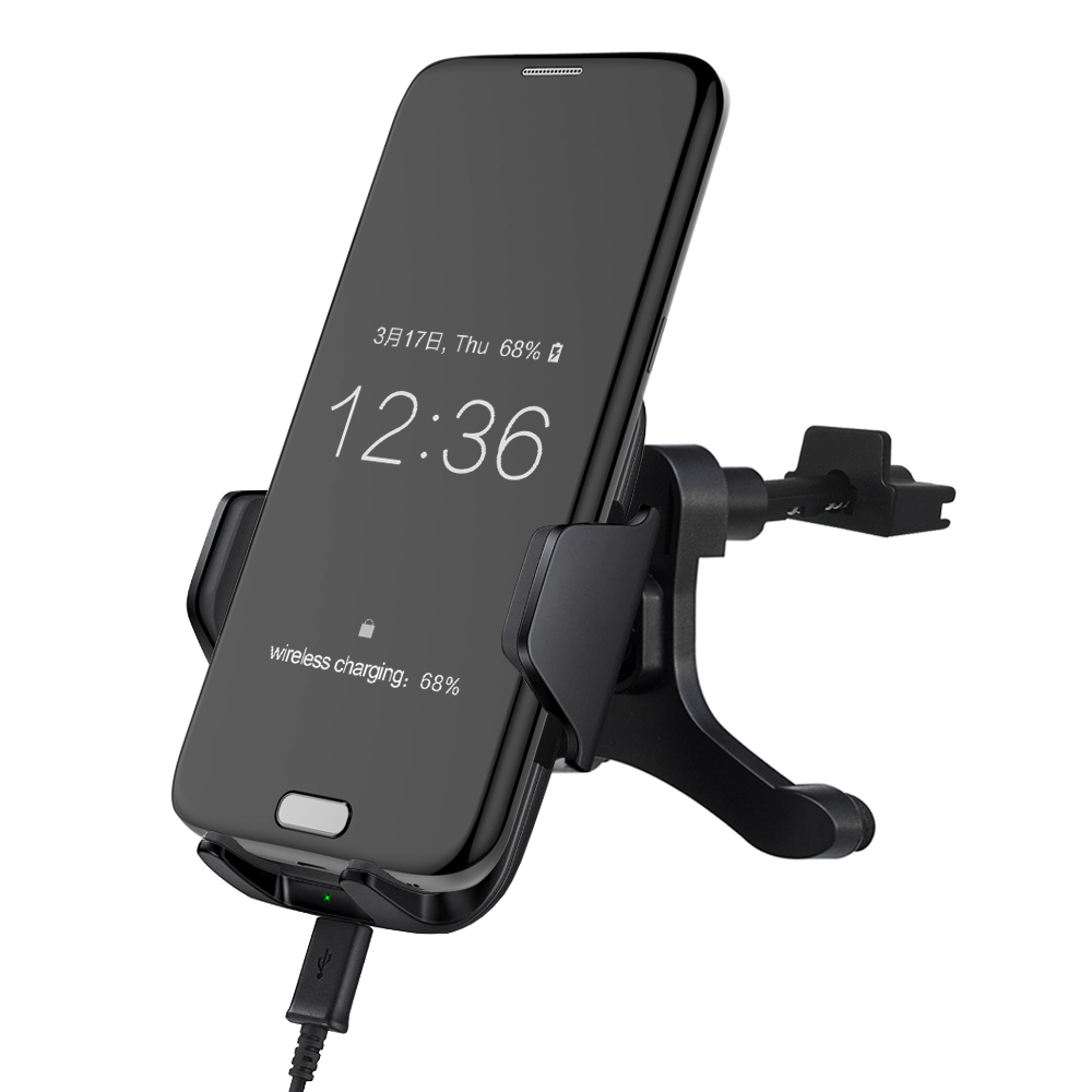Top Sale! Wireless Car Charging Pad for Samsung S6 S7 Edge Plus Note 5 Car Wireless Charger Phone Holder Air Vent Style