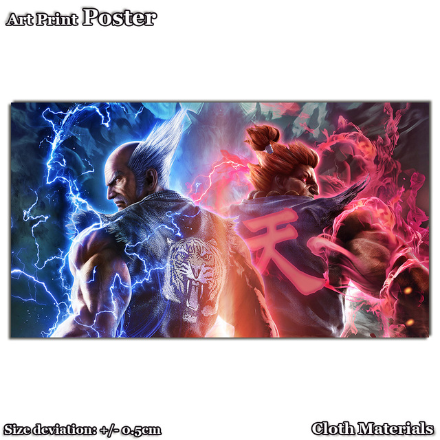 US $5 1 |Cloth art Print Poster for G777 Akuma Street Fighter Heihachi  Mishima Tekken 7 35x62cm-in Painting & Calligraphy from Home & Garden on