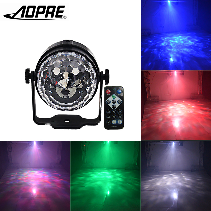 Led Disco Light Ball Laser Projector Waterwave Mini Magic With Sound Control Stage Lighting Effect Lamp For Dj Party