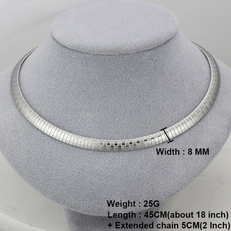 ABELIA – Cleopatra Stainless Steel Collar Necklace Choker Necklaces 8d255f28538fbae46aeae7: Bracelet Gold 8MM|Bracelet Silver 8MM|Necklace Gold 4MM|Necklace Gold 6MM|Necklace Gold 8MM|Necklace Silver 4MM|Necklace Silver 6MM|Necklace Silver 8MM