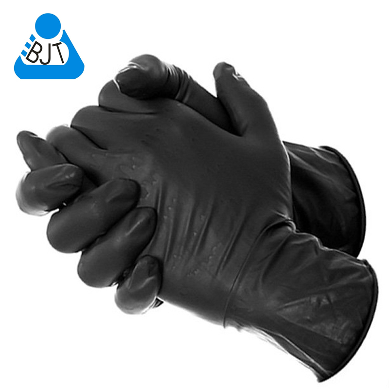 Free shipping 50 Pcs One-time Black Tattoo Gloves tattoo Supply Disposable Use Nitrile Tattoo Gloves Waterproof