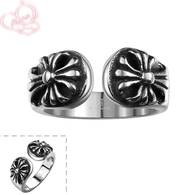 Vintage Men Ring 2015 New Items 316L Stainless Steel Hip Hop Jewelry  Wholesale Cool Black Men Jewelry Resizeable Punk Ring R124-in Rings from  Jewelry