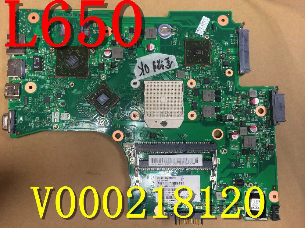 For Toshiba Satellite L650 L650D Laptop AMD Motherboard V000218120 DDR3 Test OK