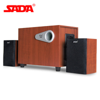 SADA D 200E 3D Surround Subwoofer Stereo Heavy Bass PC Computer Wooden USB Speaker Wood Speakers for Smart Phone Laptop Notebook