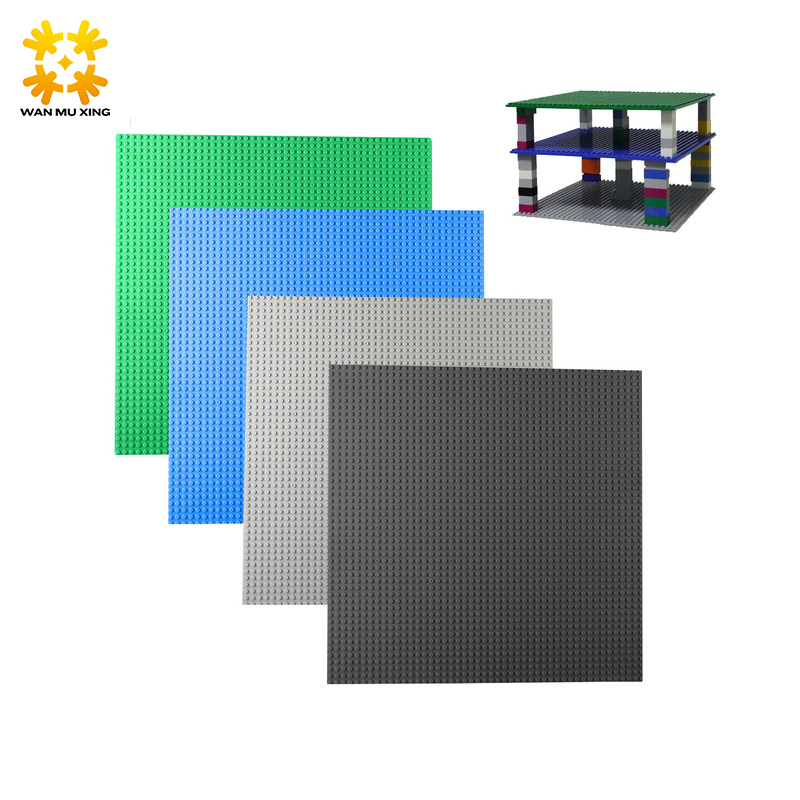 1pcs Small Blocks Base Plate Dots 25*5*25.5 cm Building Blocks DIY Baseplate For Figures Compatible With Blocks New Version base plate for tdp 0