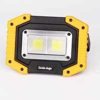 COB LED Portable Spotlight Searchlight USB Rechargeable 18650 Flashlight Work Light Lantern Camping Hiking Light AA Power bank