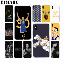 YIMAOC Stephen Curry 30 Soft TPU Silicone Case for Apple Iphone Xr Xs Max X 10 8 Plus 7 6S 6 Plus SE 5S 5 7Plus 8Plus Cover 30 rev 30 30 stephen curry jersey