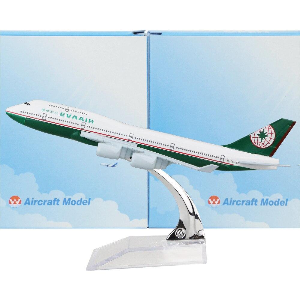 EVA Air Boeing 747 16 см самолет детский подарок на день рождения плоскости модели игрушки Бесплатная shipwping Рождество подарок