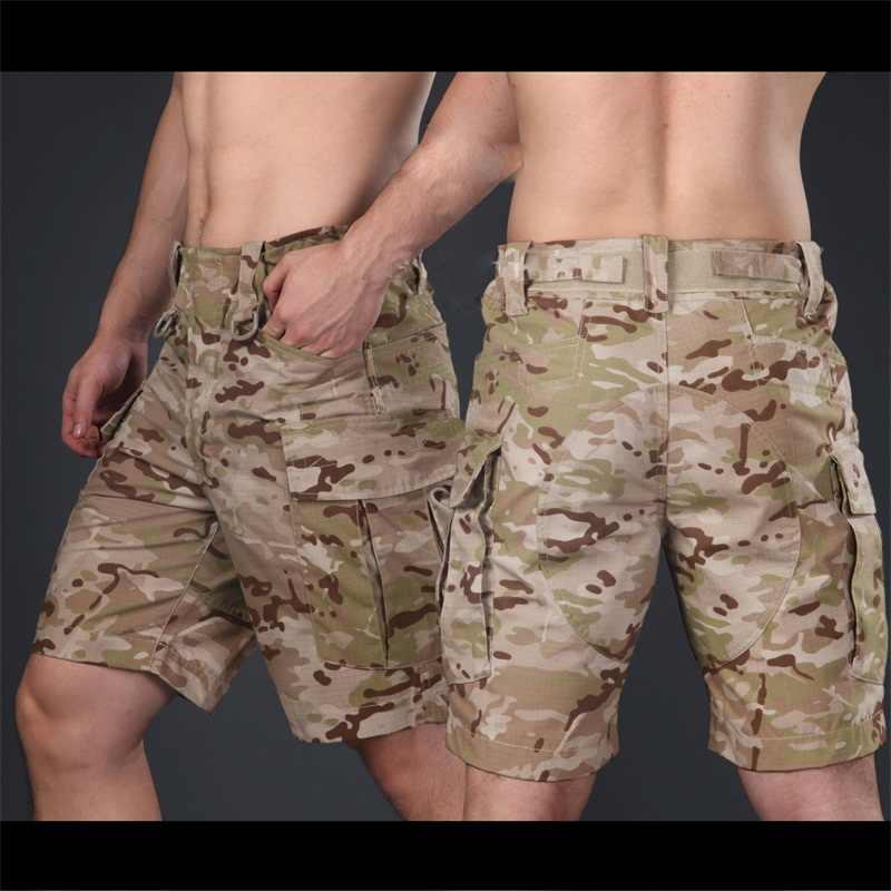 Nuevos pantalones cortos militares CP tácticos Multicam hasta la rodilla pantalones cortos para entrenamiento de camuflaje Ripstop pantalones cortos del ejército