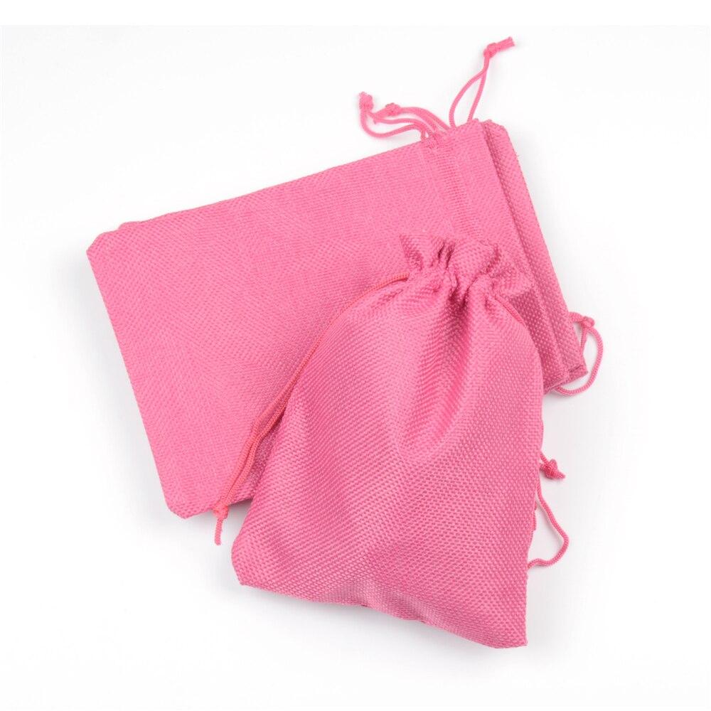 Hessian Linen Rustic Burlap Drawstring Jute Bag Candy Gift Christmas ...