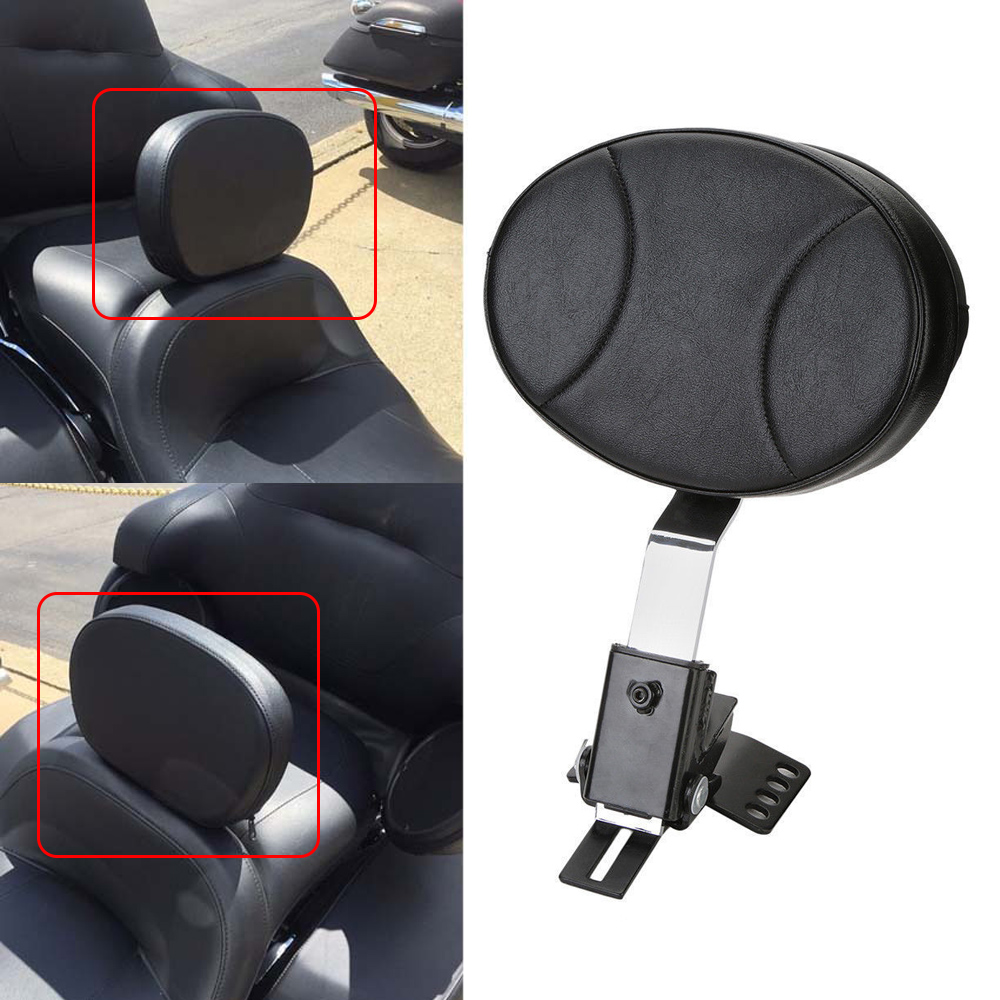 Motorcycle Adjustable Driver Backrest Sissy Bar Pad For 1997-2016 2014 2015 Harley Electra Street Glide Road Glide Road King abs hard saddlebags latch keys for harley road king electra street glide 14 18