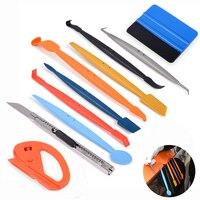 FOSHIO 10pcs Window Tint Tools Car Sticker Film Micro Tuck Magnet Squeegees Set Car Accessories Vinyl Wrap Scraper Cutter Knife