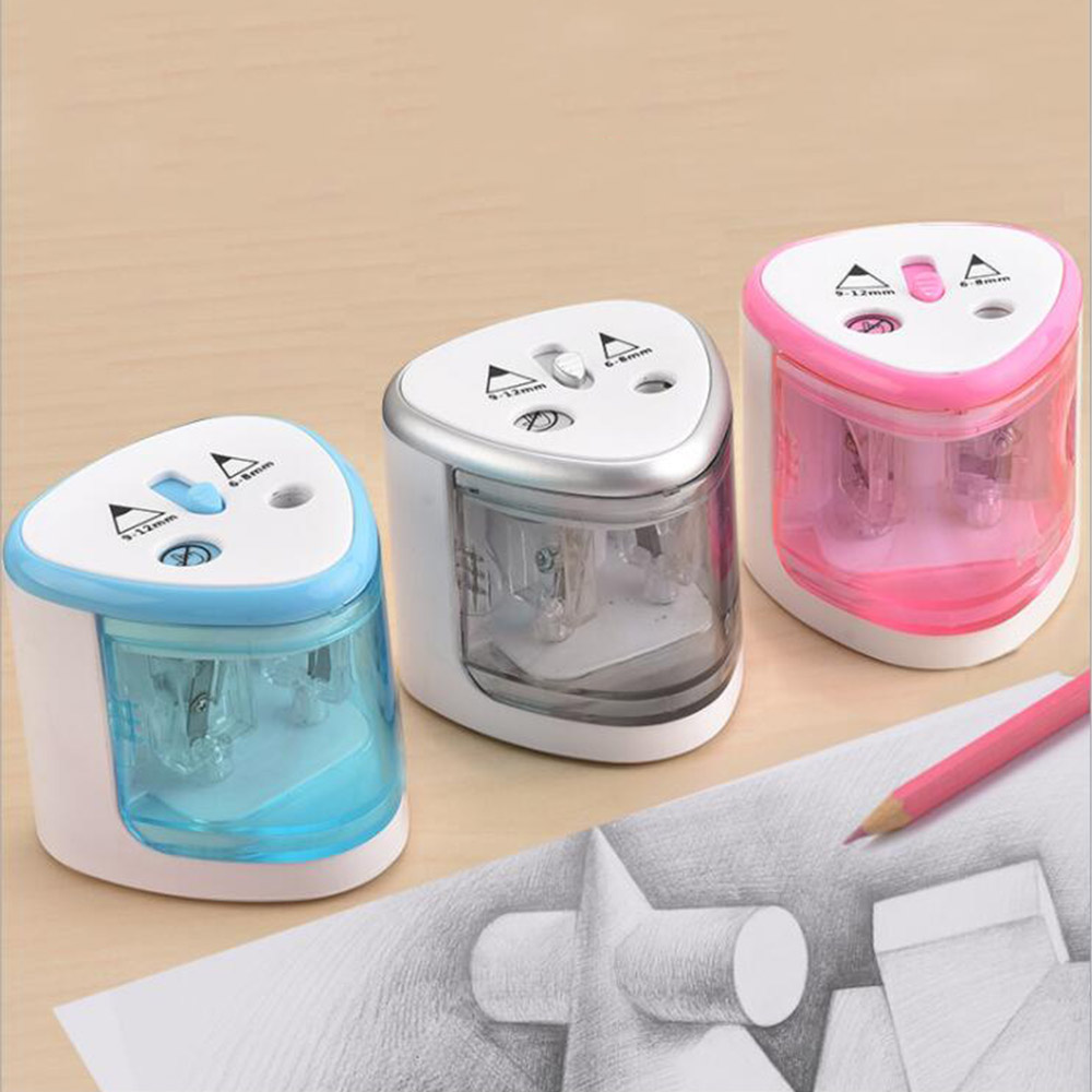 Automatic pencil sharpener stationery Electric Pencil Sharpener Pen Knife Student School Supplies Office z 102 automatic knife maintenance sharpener green golden grey
