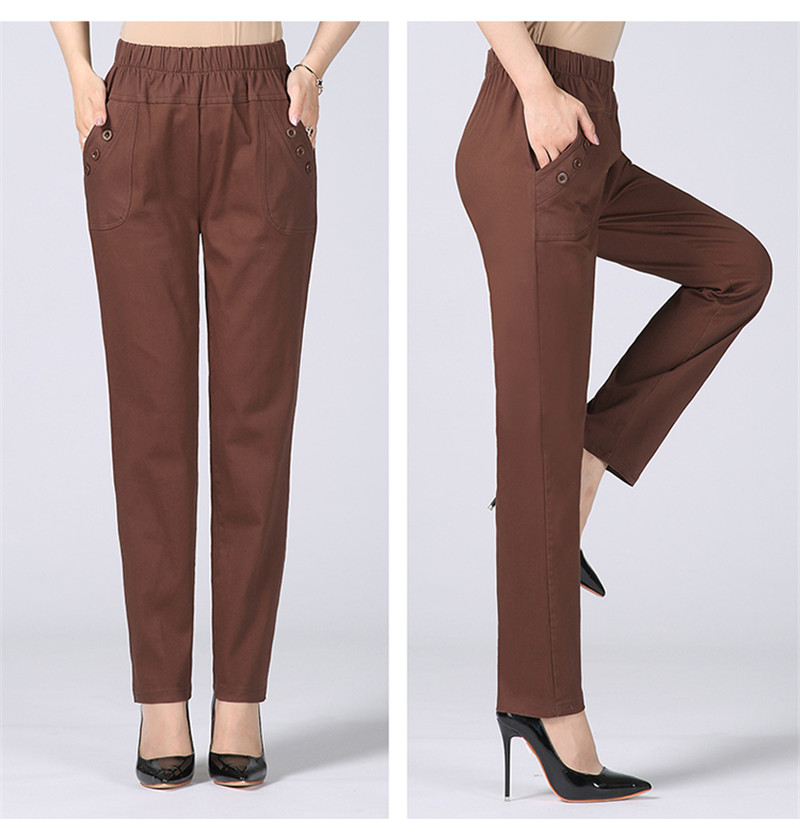 HTB1.Cz.kXGWBuNjy0Fbq6z4sXXao - Plus Size 5XL High Waist Stretch Long Pants Women Cotton Straight Trousers Women Pantalon Femme Work Office Ladies Pants C4315