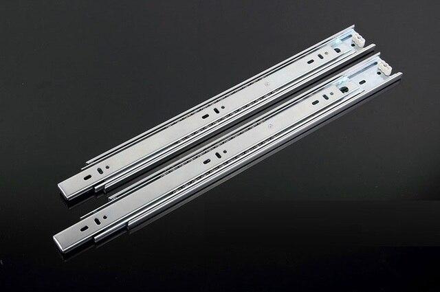 """1Pairs/Lot  20"""" / 50CM  H3510 ball bearing drawer slide Slides Runner Rail 3-Fold Full Extension 35KG"""