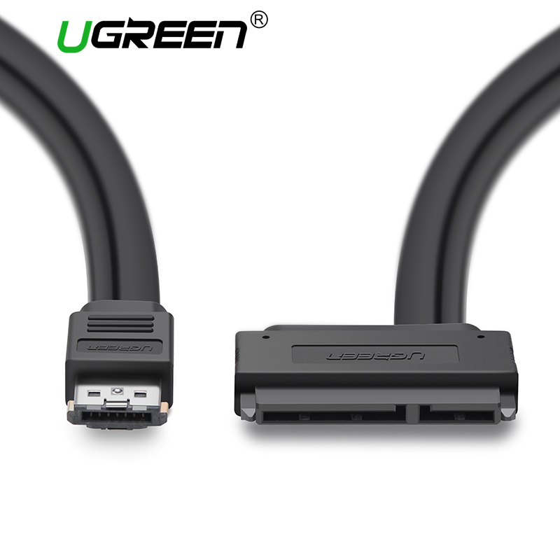 Ugreen ESATA to Sata Cable Dual Power 22 Pin USB ESata Combo to SATA Cable Adapter for 2.5 Hard Disk Drive USB Sata Cable e sata esata e sata male to male m m extension data sync cable line for external portable hard drive hdd 50cm