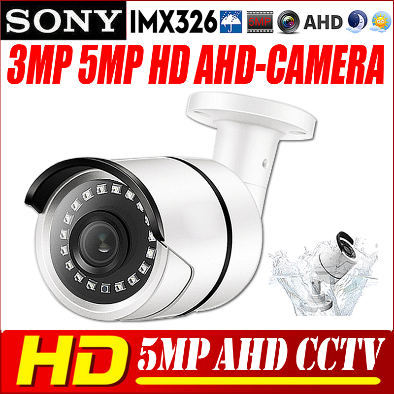 5MP AHD Camera Sony <font><b>IMX326</b></font> Sensor 1080P/5MP CCTV Security AHD-H IRCut Night vision IP66 outdoor bullet Security Camera NANO LED image