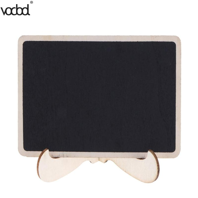 Mini Wooden Blackboard With Removable Stand Chalkboard Message Boards Sign Wedding Party Decoration For Table Memo