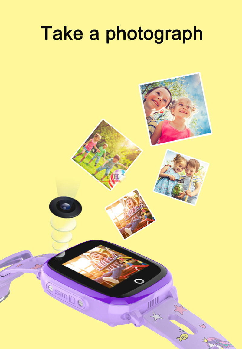 4G Camera GPS Watches WI-FI Kids Children Students Smart Wristwatch Sim Card/SOS/Video Call/ Monitor Tracker Location Waterproof 8