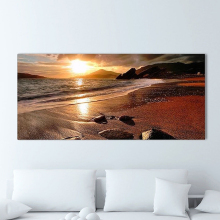 120x50cm No Frame Beach Sunset Glow Scenery Printed Wall Art Painting Decoration Wall Pictures