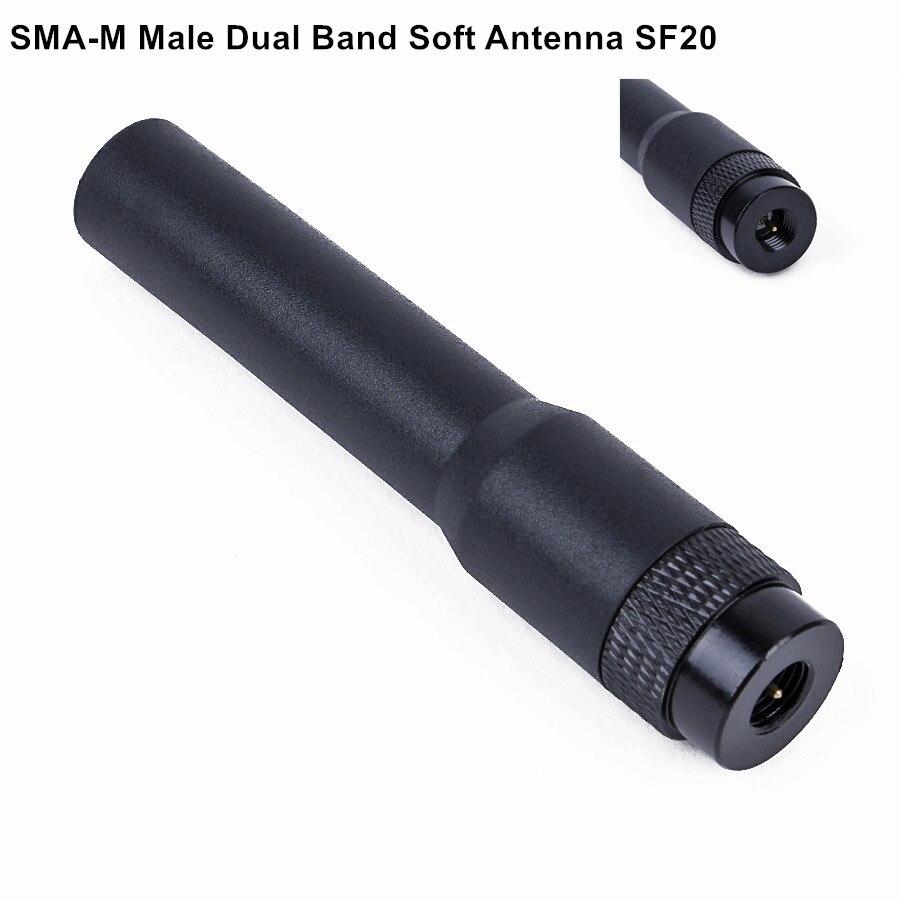 For Baofeng Portable Radio Mini Soft Antenna SMA-M Male Dual Band SF20 UV-3R KG-UV6D KG-UV8D Two Way Radio Antenna SF-20