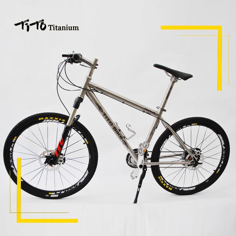 TiTo titanium alloy MTB bike XT silver suits 20 font b Speed b font or 30
