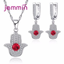 Jemmin Newest 925 Sterling Silver Women Necklaces Earrings Set For Party Accessory Bridal Wedding Engagement Jewellery Sets