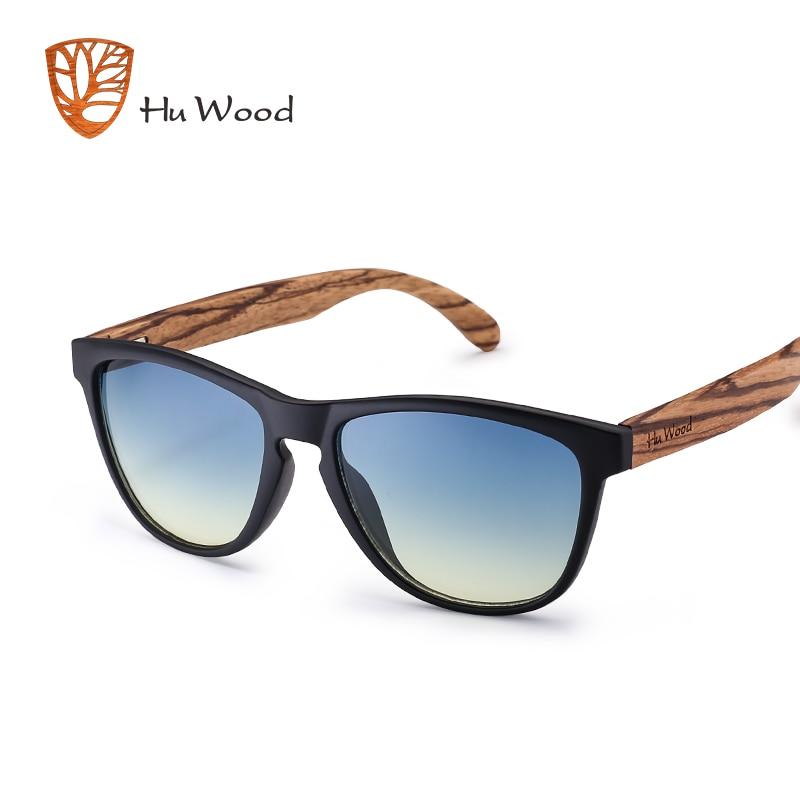 HU WOOD Brand Design Natural Bamboo Sunglasses