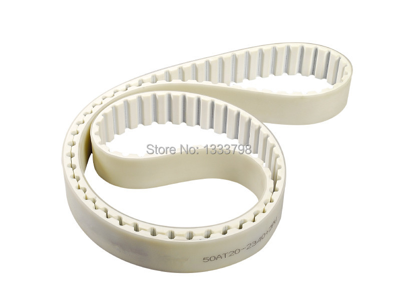 high quality 2mm thickness Polyurethane coation steel core endless belt/50mm width AT20 belt 15mm width t5 steel core endless timing belt closed loop pu belt