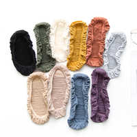 Caterpillars Design Woman Socks Cool Invisible Sock Slippers Women Summer Boat No Show Cotton 1 Pair
