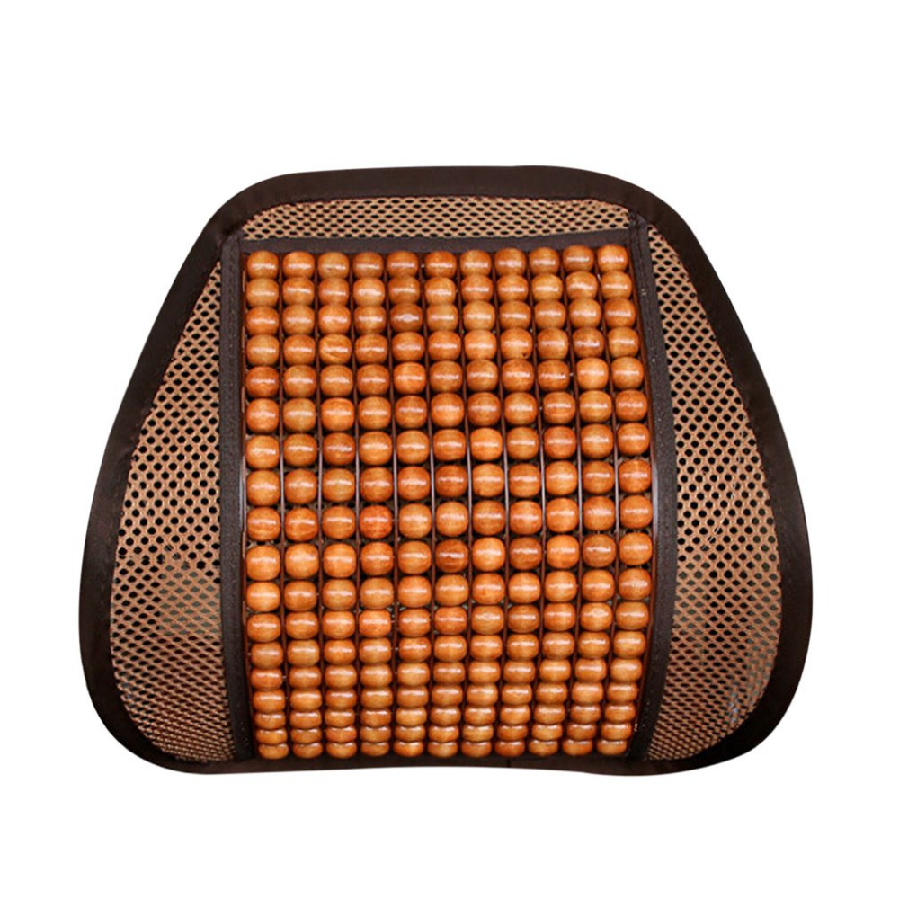 1pc Comfortable Auto Car Waist Seat Chair Massage Cashion With Wood Beaded Massage Beads for Car Seat Car Interior Accessories universal pu leather car seat covers for toyota corolla camry rav4 auris prius yalis avensis suv auto accessories car sticks