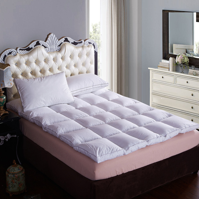 SongKAum Luxury Topper Down Filling 100% Cotton Cover Quilted Bed Five Star Thickening Folding Down Mattress
