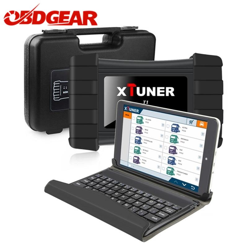 Mais novo V9.3 XTUNER T1 HD Caminhões Pesados Ferramenta de Diagnóstico Auto Com Caminhão EGR DPF Redefinir Airbag ABS + 8' WIN8 OBD2 Auto Scanner