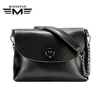 MIRONPAN Women Envelope Messenger Bag Original Genuine Leather Shoulder Handbag Female Business Zipper Hasp Crossbody Bags