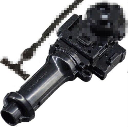 Beyblade lanzadores L-R Doble Poder cuerda izquierda derecha giro lanzador Beyblade Metal Masters lucha negro Doble Poder lanzador