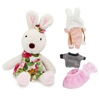 Kawaii Original Le Sucre Bunny Rabbit Plush Barbie Doll Stuffed Brinquedos Toys Hobbies For Children Girls