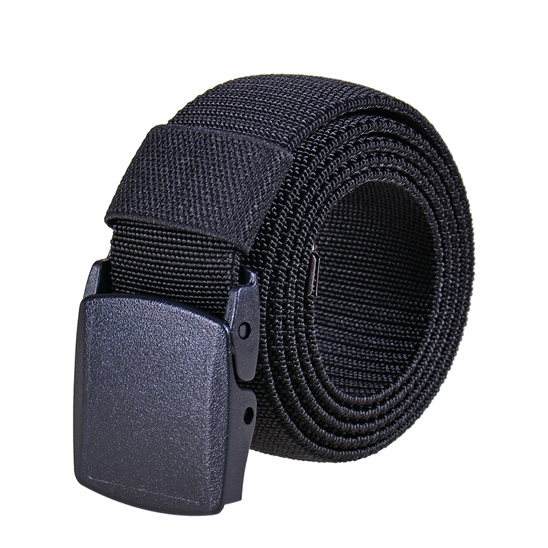 Ta-weo Men Casual Wild Canvas Belts, High Quality Strentch Belt,  1.5'' Wide Plastic Press Buckle Elastic Belt