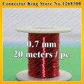 0.7 мм * 20 м/шт QA-1-130 2UEW Полиуретан эмалированные Провода Медного Провода эмалированные Ремонт