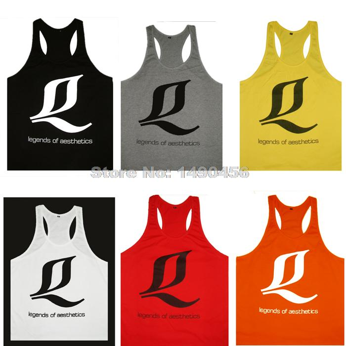 a7d576c12da27 New Legends of Aesthetics LOA Summer Style Tank Top Men Bodybuilding Academia  Animal Gym Fitness Men Regata Masculina Stringers