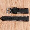 20/22/24/26mm reemplazo militar ourdoor línea de costura impermeable de goma correa de reloj de pulsera banda de orange negro de silicona de buceo