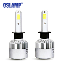 Oslamp H1 Led COB Chips 72W 8000lm 6500K H1 Car Headlight Kits 2WD/4WD SUV Auto Fog Lamps H1 Sockeet Car Bulbs with Cooling Fan