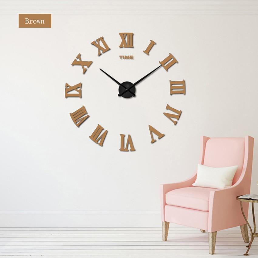 2018 nove velike rimske stenske ure akrilno ogledalo diy ure doma - Dekor za dom - Fotografija 3