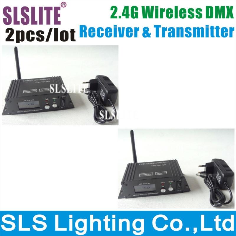 2PCS/LOT SLS 2.4G Wireless DMX controller transmitter and receiver, LED Lighting DMX 512 controller Free shipping 2 pcs lot transceiver dmx 512 control wireless transmitter