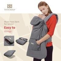 Bebamour New Baby Cover Multifunctional Winter Warm Cloak Waterproof Stroller Covers Babies Sling Backpack Cloaks